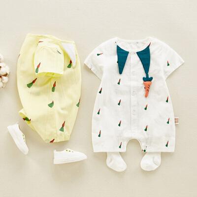 夏季薄款婴幼儿外出服婴儿连体衣夏装男女宝宝衣服