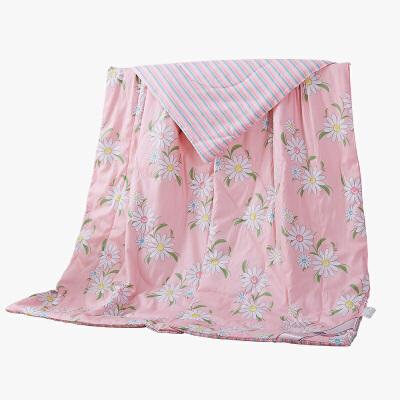 当当优品 全棉印花水洗夏凉被 空调被 午睡被 梦花心期200*230cm当当自营 纯棉面料 环保印染0刺激 可水洗不变形