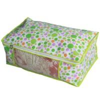 万波龙 加厚花色透明整理袋 衣物棉被收纳袋 收纳厚被加大号 买10送1
