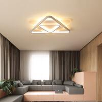 精美护眼时尚卧室灯 简约现代创意三角形几何拼接北欧儿童书房过道灯led吸顶灯精美时尚吸顶灯 小号D43*6CM 白光