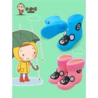 女童����雨鞋防滑1-3小孩�胗�和�雨靴男童水鞋小童�z鞋公主可�� (加�q)