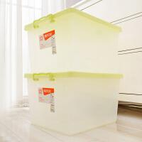 [当当自营]禧天龙Citylong 玩具收纳箱2个装 6047 本色绿 加厚塑料衣物整理箱 防潮百纳箱家居储物箱