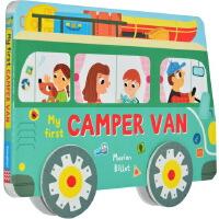 儿童汽车书英文原版 Whizzy Wheels: My First Camper Van 交通工具纸板书 玩具书