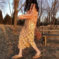 新款韩版时尚套装冬季宽松套头慵懒风毛衣闪亮半身裙气质两件套潮 均码