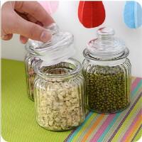 密封玻璃罐子蜂蜜柠檬瓶食品杂粮储物罐奶粉茶叶罐(单个)