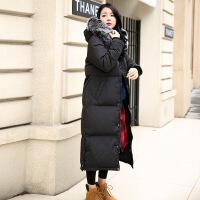 韩版长款羽绒服女过膝 新款韩国加厚保暖大毛领加长显瘦外套
