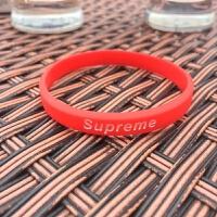 原创潮牌个性简约字母运动篮球男女橡胶腕带学生情侣能量硅胶手环 新SUP红色