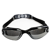 涂层泳镜大框男游泳眼镜后扣男女通用大框镜黑色防雾电镀泳镜