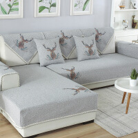 【花集云】棉麻布艺沙发垫印花沙发垫套防灰防尘四季通用沙发垫套