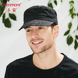 卡蒙户外防晒帽软顶帽子男夏季鸭舌帽黑色休闲军帽迷彩平顶帽遮阳 3629
