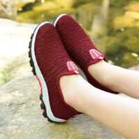 夏季老北京布鞋女单鞋网鞋女中老年透气网面妈妈鞋软底休闲鞋