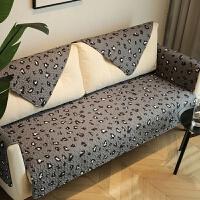 豹纹 防滑沙发盖巾全棉布艺沙发垫 套罩坐垫 四季通用 可定制 豹纹F