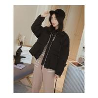 短款棉袄女冬新款韩版加厚面包服棉衣chic大口袋宽松外套