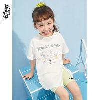 6.21超品【4件2.2折:61.3元】迪士尼童装女童短袖套装夏儿童运动2021新款宝宝洋气时髦两件套
