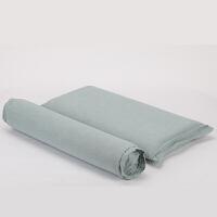 颈椎枕头脊椎枕圆形牵引糖果枕记忆棉枕芯护颈枕定制 浅绿色 棉麻