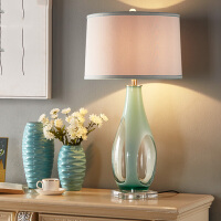 简约现代装饰台灯卧室床头灯设计师书房客厅灯样板房创意个性台�� 红色