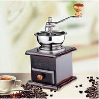 家用磨咖啡豆机磨粉机复古手摇磨豆机实木手动咖啡研磨机
