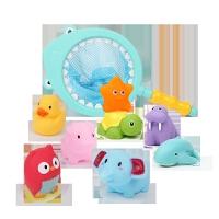 宝宝洗澡玩具套装儿童戏水小黄鸭小乌龟鸭子婴儿游泳池男女孩
