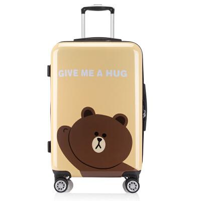 【可礼品卡支付】20寸登机箱时尚印花拉杆箱情侣旅行箱亲子情侣亲密出游,惊艳爆品