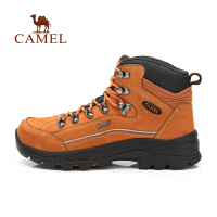 camel骆驼户外登山鞋 男女情侣高帮减震耐磨 牛皮徒步鞋