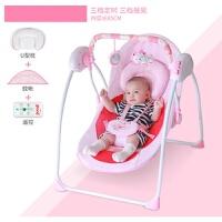 20181112172303185婴儿礼盒新生儿套装刚出生宝宝音乐电动摇椅床篮满月礼物母婴用品 粉红色 公主 0-36