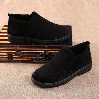 冬季加绒加厚男棉鞋老北京布鞋休闲男鞋中老年爸爸鞋老人棉鞋