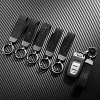 翻毛领汽车钥匙扣男士腰带挂件遥控钥匙环圈高档汽车装饰用品
