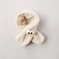 儿童围巾加厚保暖婴儿围脖秋冬季男童女童大眼围巾女宝宝加绒脖套MYZQ55 均码 建议1-3岁
