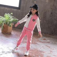 女童套装秋装2018新款女孩衣服两件套6潮衣儿童8运动韩版10春秋款wk-95 140cm(140cm 偏小一码)