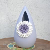 欧式陶瓷花瓶家居干花插花器 客厅花艺装饰品摆件 创意家居装饰摆件花瓶
