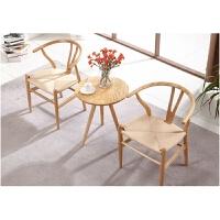 【品牌特惠】椅子中式实木餐椅休闲扶手椅北欧咖啡椅家用原木书房电脑椅靠背