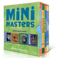 顺丰发货 大师名作 Mini Masters 纸板书盒装童书 开本适合孩子自己翻阅 文字也很简练押韵 4册纸板书包含德加、莫奈、马蒂斯、梵高作品经典代表作