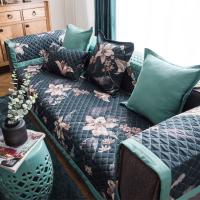 美式全棉沙发垫现代简约斜纹花卉布艺四季通用防滑组合沙发坐垫四季座垫新款简约寝室加厚日式现代冬天卧室