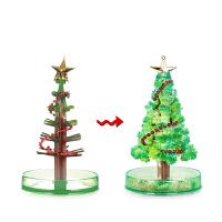 圣诞树纸树开花 迷你圣诞树装饰品会开花的圣诞树玩具纸树开花魔法树礼物小礼品 圣诞树玩具 纸树开花