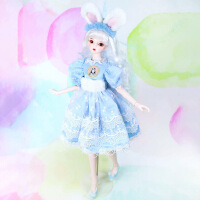 【2件5折】芭比娃娃 新年礼物 精品 德必胜娃娃梦幻系列新品60cm 改装娃娃玩具bjd换装娃娃送女友礼物 蕾娜60c