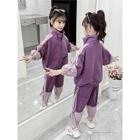 2019春秋季新款儿童洋气童装女孩韩版工装两件套女童秋装套装