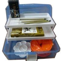 马利12色国画颜料套装套装毛笔+墨汁+宣纸等19件套工具