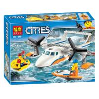 兼容乐高积木海岸警卫队城市系列海上救援飞机拼装儿童积木拼插益智玩具男孩
