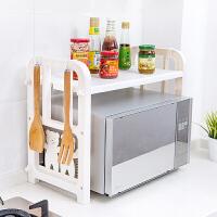 2019新品新品双层塑料调料架烤箱架置物架厨房用品沥水收纳架微波炉架子调味架