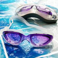 泳镜渐变紫色泳镜泳镜男女通用款 游泳眼镜