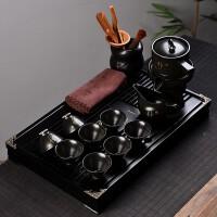 【新品】整套功夫茶杯茶具套装家用简约懒人泡茶石磨半全自动冲茶器茶盘 13件