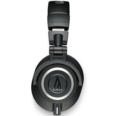 铁三角(Audio-technica) M50X 头戴式专业全封闭监听音乐HIFI耳机 监听耳机 黑 可单边及反转使用,细腻解析,