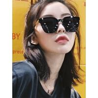 墨镜女潮太阳镜方形大框偏光镜复古圆脸太阳眼镜