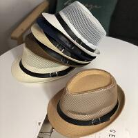 帽子夏天草编礼帽遮阳英伦草帽户外休闲太阳帽子