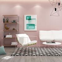 【旗舰精品】北欧办公沙发茶几组合套装简约现代创意休闲会客区单人服装店 粉色 单人位