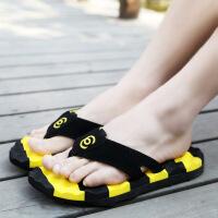 夏季舒适按摩夹脚人字拖潮流男士拖鞋凉鞋休闲潮拖沙滩凉拖鞋
