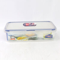 乐扣乐扣保鲜盒塑料HPL816C 800ml微波分隔格餐盒饭盒便当盒 透明