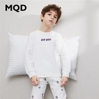 MQD童装男童卡通印花内衣套装19秋冬款中大童加厚秋衣秋裤两件套
