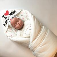新生婴儿抱被 纯棉 秋冬新生儿纯棉抱被婴儿春秋冬季保暖盖宝宝抱毯包被小被子加厚