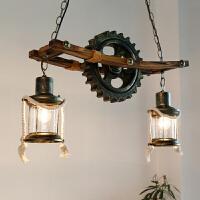 美式乡村设计师吊灯创意复古咖啡厅酒吧餐厅loft工业风吊灯 含4W暖黄LED灯泡